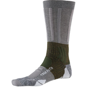 X-Socks Trek Path Sokken Heren, dolomite grey/forest green